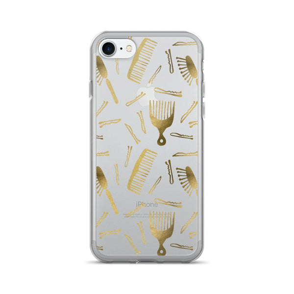 Good Hair Day – Gold Palette • iPhone 7/7 Plus Case (Transparent)