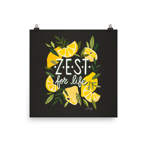 Zest for LIfe - Charcoal