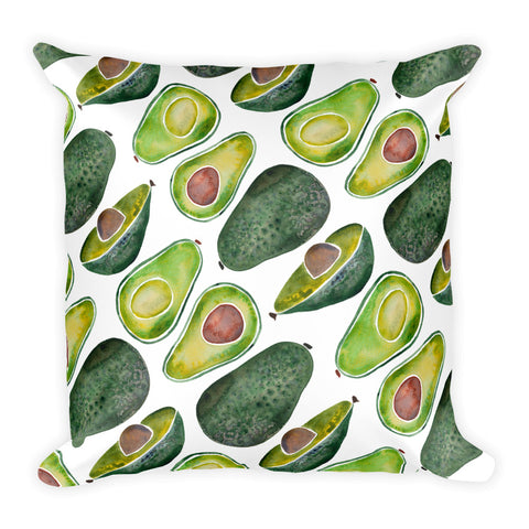 Avocado Slices • Square Pillow