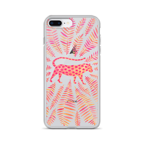 Jaguar – Pink Palette • iPhone Case (Transparent)