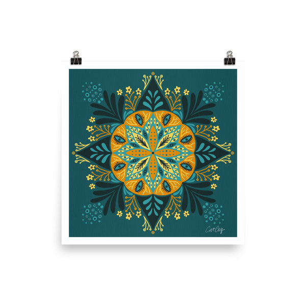 Sprouting Mandala - Teal