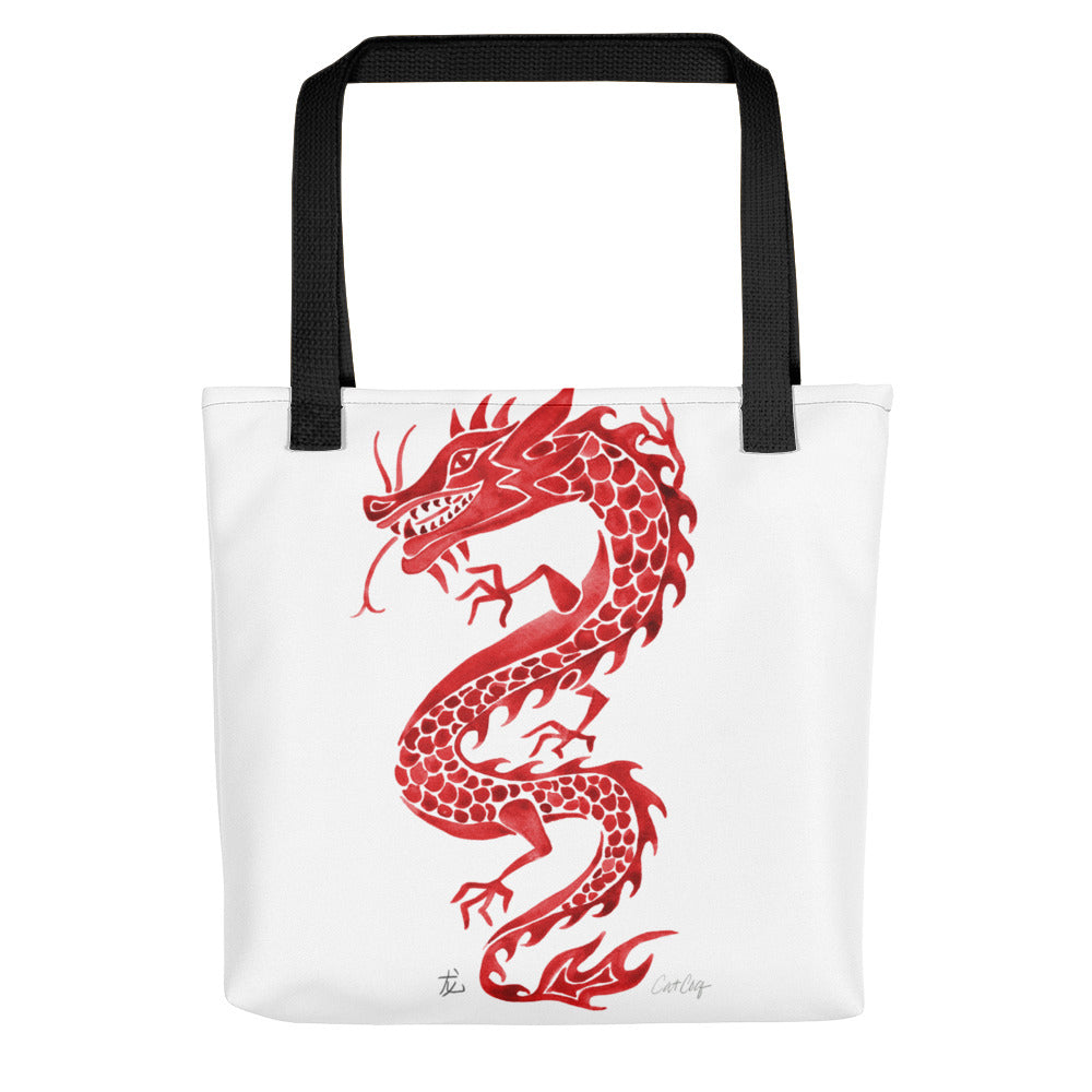 Chinese Dragon – Crimson Palette • Tote Bag