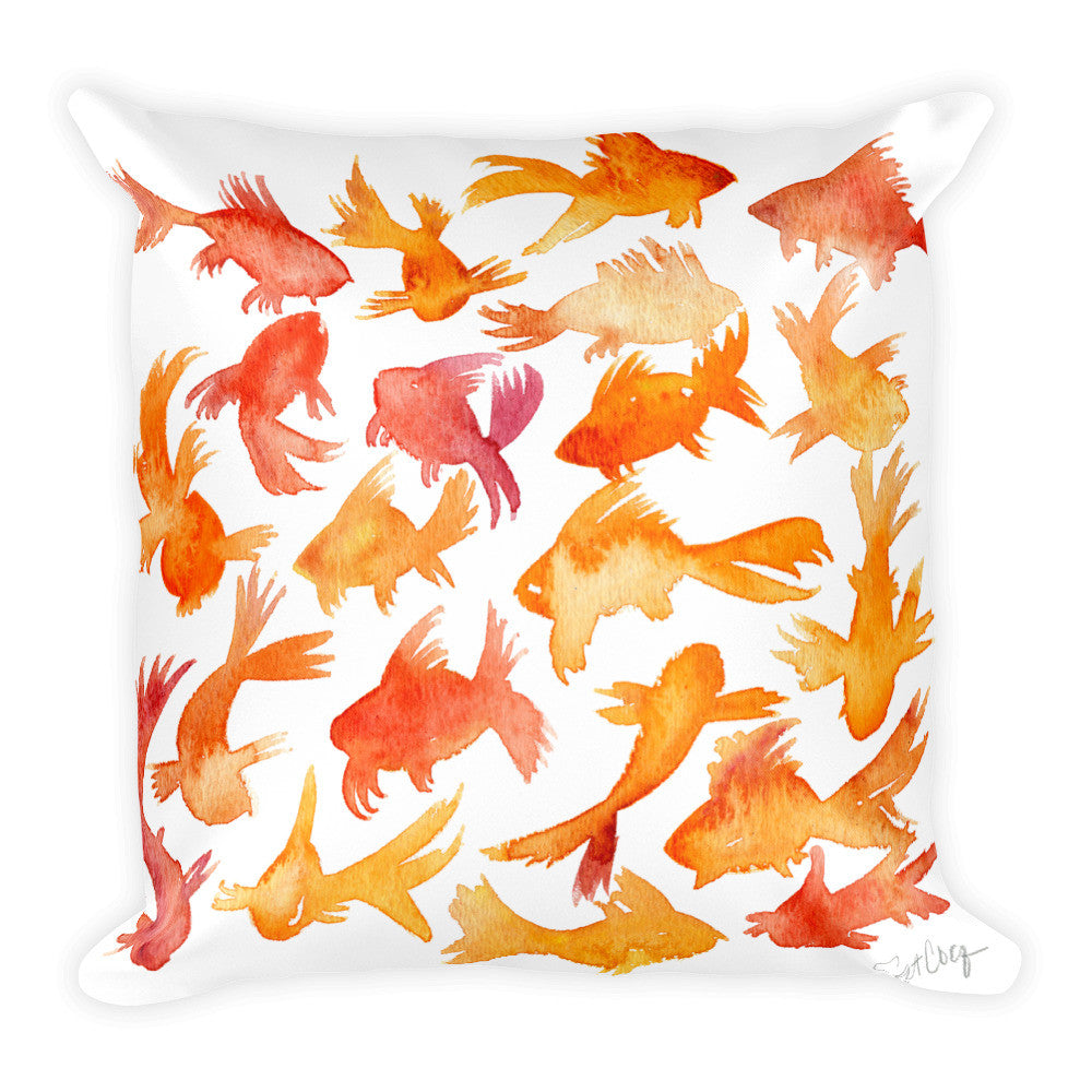 Goldfish  •  Square Pillow