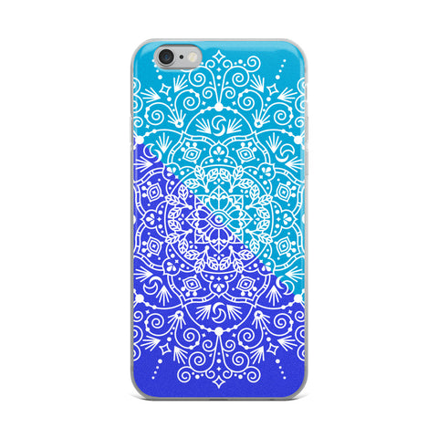 Moroccan Mandala – Navy & Cerulean Palette • iPhone Case