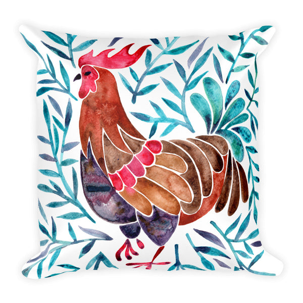 Le Coq – Green Leaves • Square Pillow