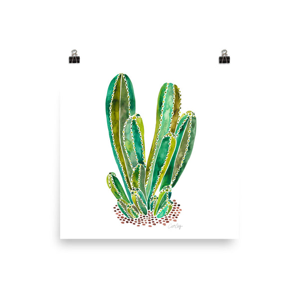 Cactus Cluster – Green Palette • Art Print