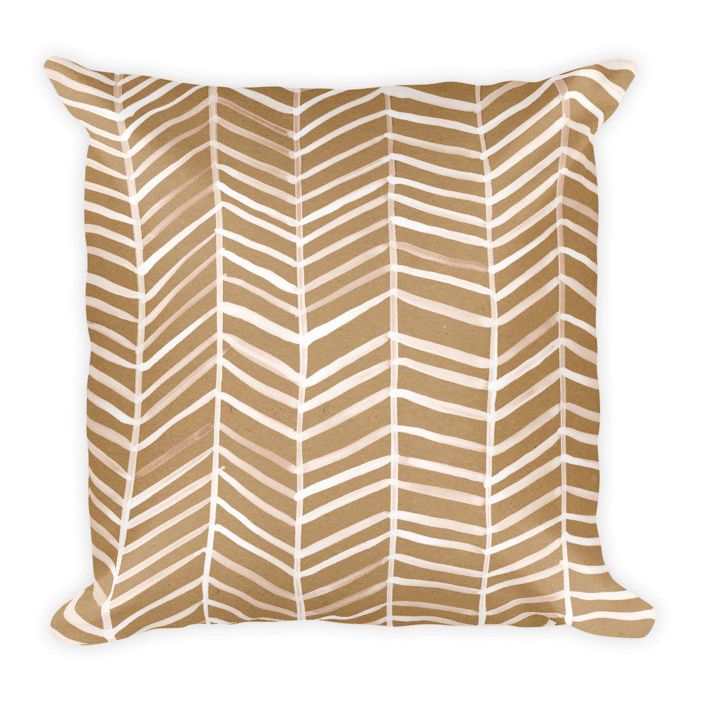 Herringbone – Kraft Palette • Square Pillow