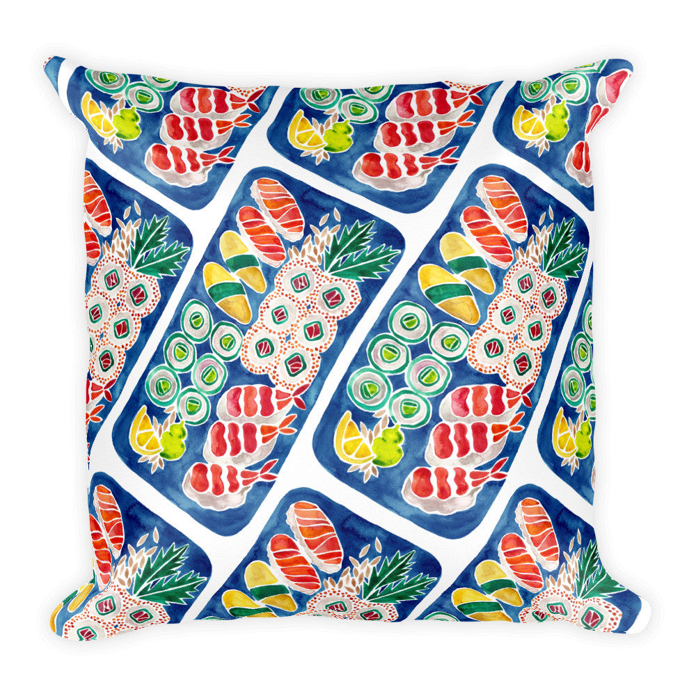 Sushi Collection – Navy Platter  •  Square Pillow