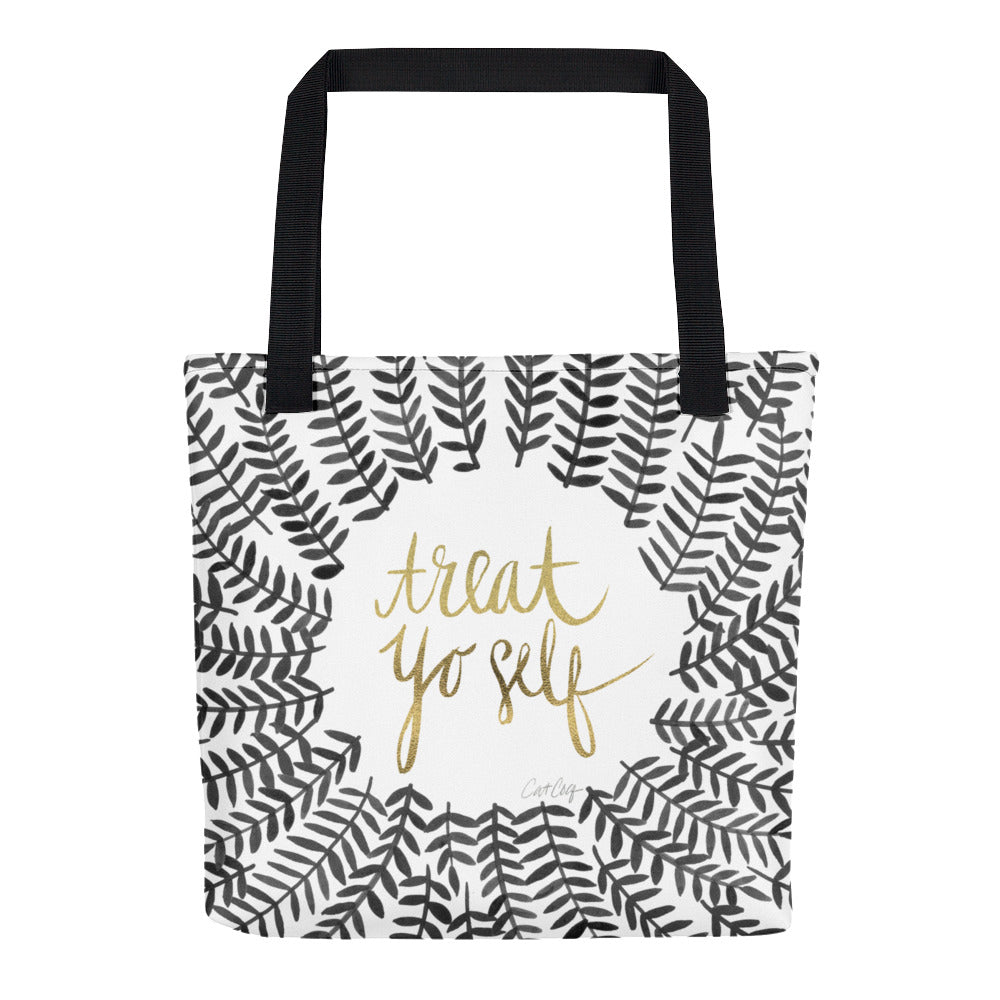 Treat Yo Self – Black Palette • Tote Bag