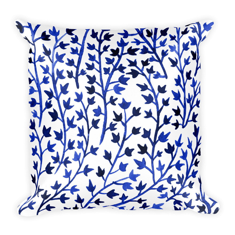 Ivy – Navy Palette • Square Pillow