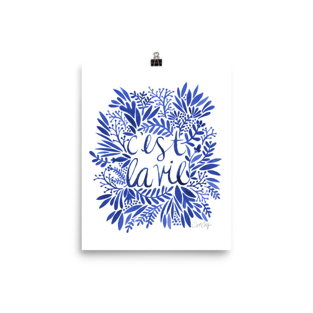 That's Life – Navy Palette • Art Print