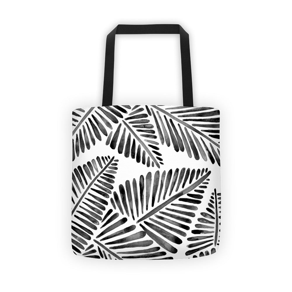 Banana Leaves – Black Palette  •  Tote Bag