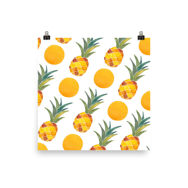 Pineapple Dot Pattern • Art Print