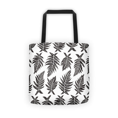 Inked Ferns – Black Ink • Tote Bag