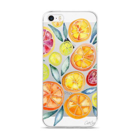 Citrus Slices  •  iPhone 5/5s/Se, 6/6s, 6/6s Plus Case (Transparent)
