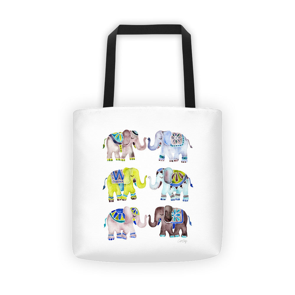 Elephant Collection – Cool Palette • Tote Bag