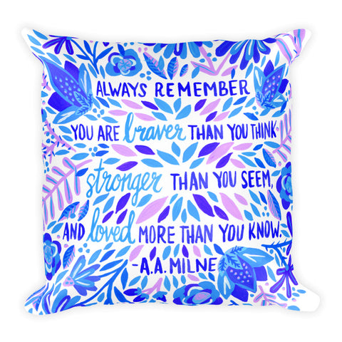 Always Remember – Indigo Palette • Square Pillow