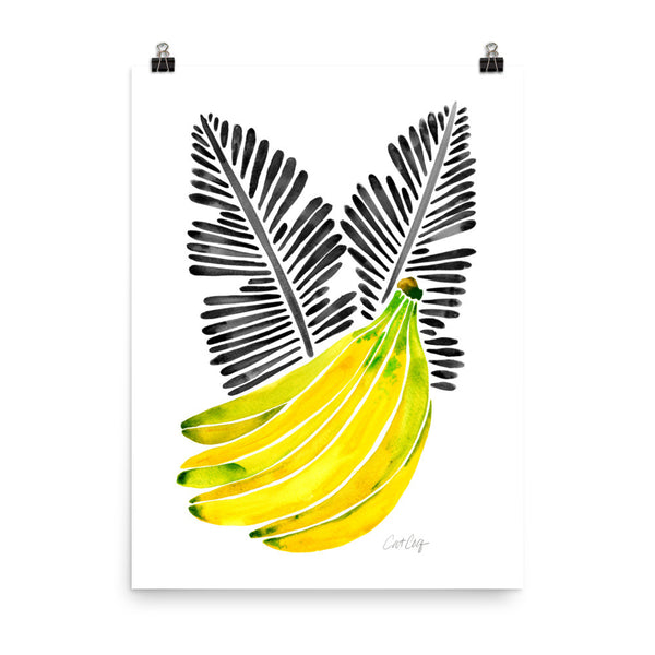 Banana Bunch – Yellow & Black • Art Print