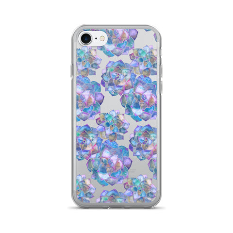 Rosette Succulents – Mermaid Palette • iPhone 7/7 Plus Case (Transparent)