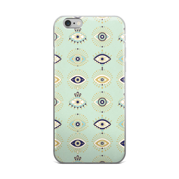 Evil Eyes – Mint Palette  •  iPhone 5/5s/Se, 6/6s, 6/6s Plus Case