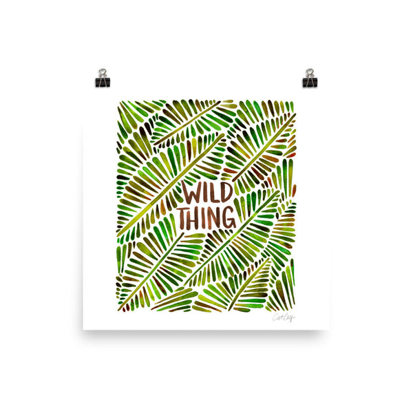 Wild Thing – Green Palette • Art Print