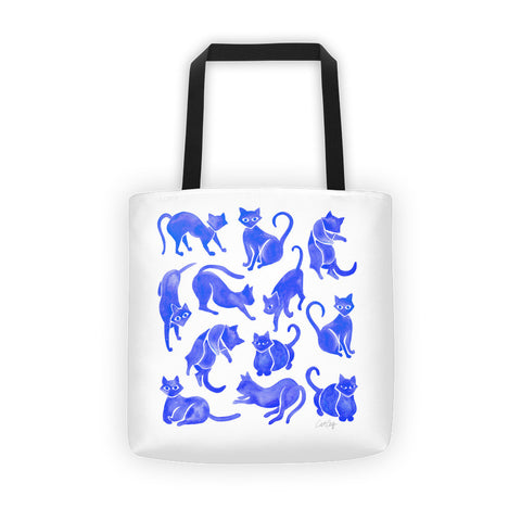 Cat Positions – Blue Palette  •  Tote Bag