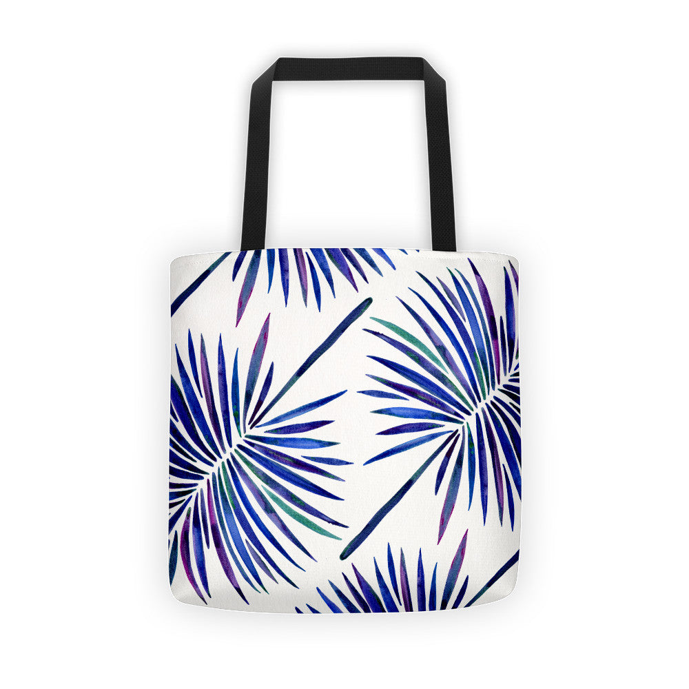 Fan Palm – Indigo Palette  •  Tote Bag