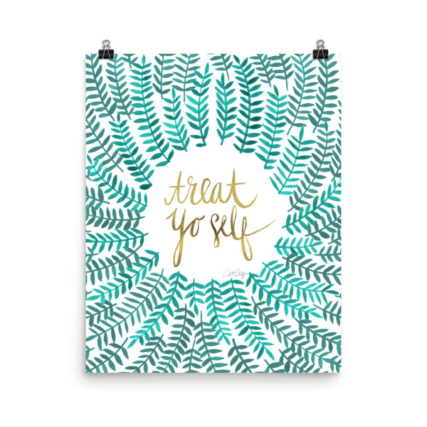 Treat Yo Self – Turquoise Palette • Art Print
