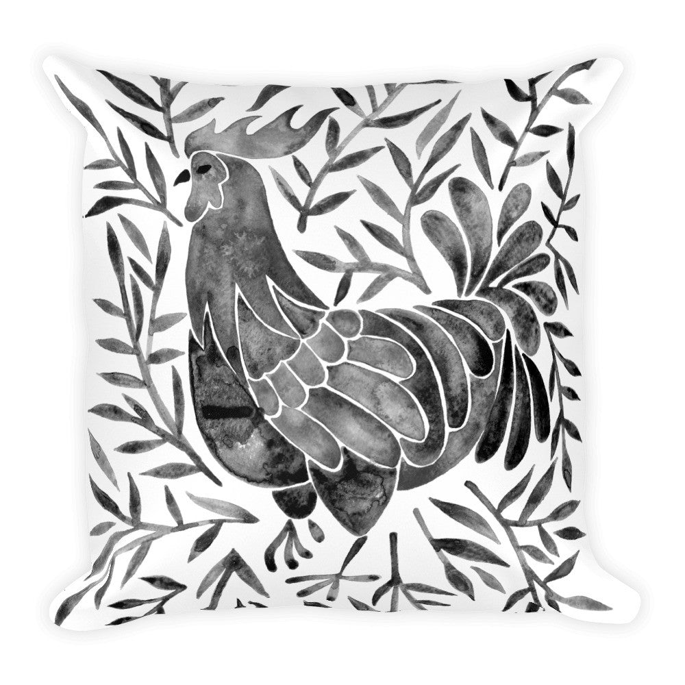 Le Coq – Black Palette • Square Pillow