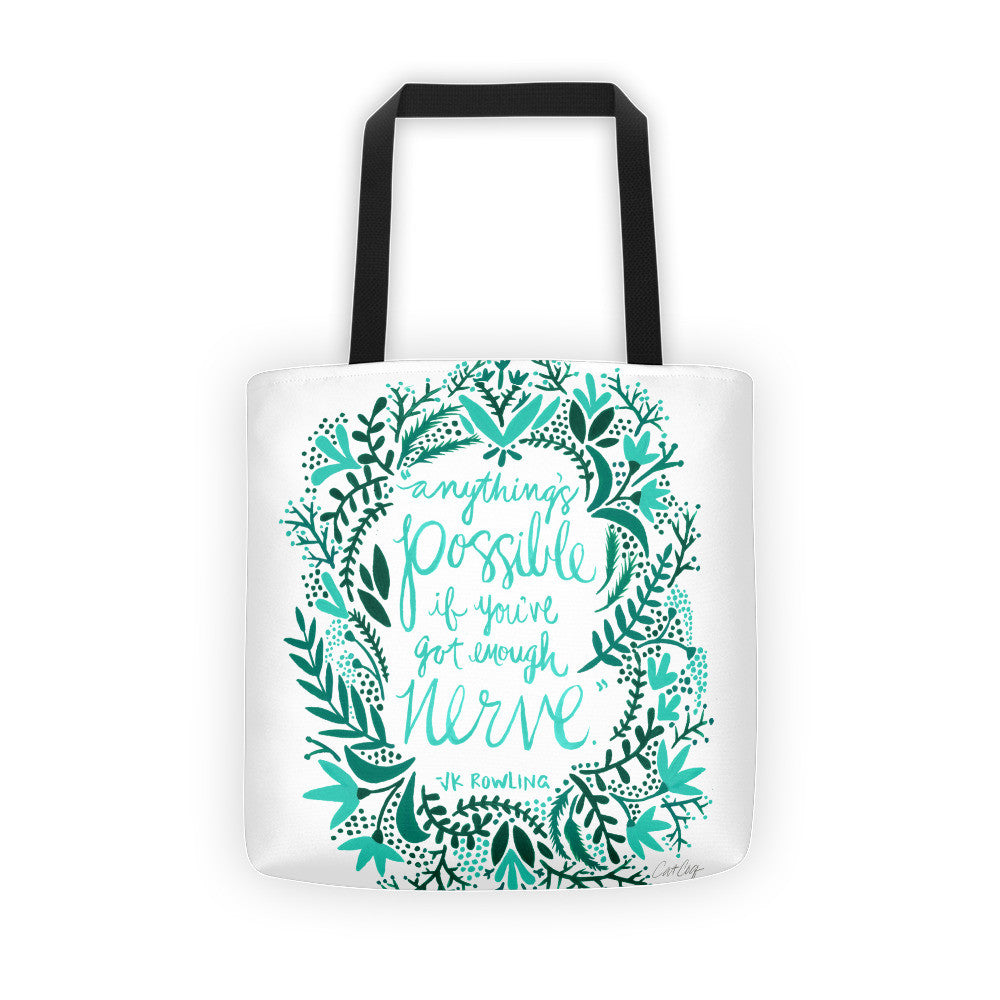 Anything's Possible – Turquoise & Teal Palette • Tote Bag