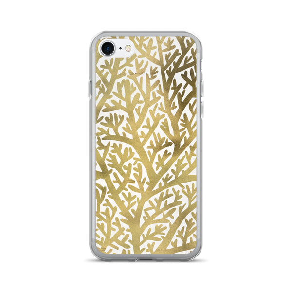 Fan Coral – Gold Palette • iPhone 7/7 Plus Case
