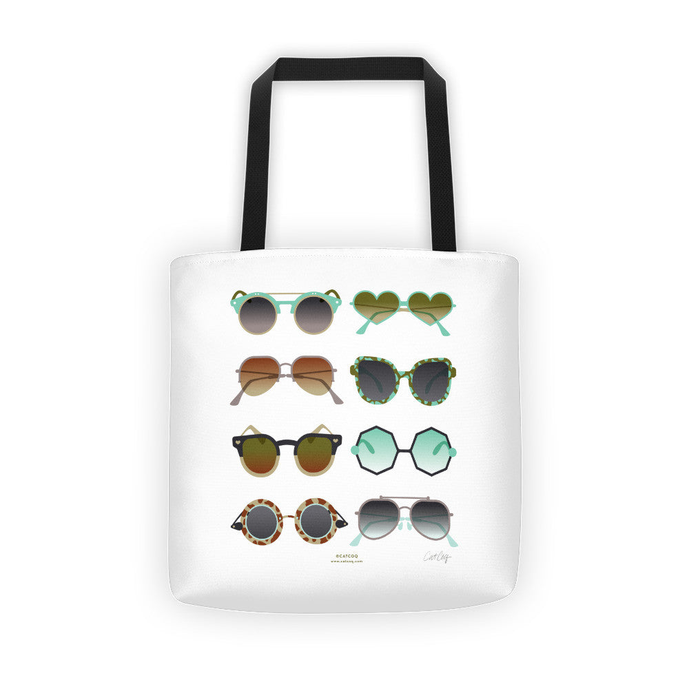 Sunglasses Collection – Mint & Tan Palette  •  Tote Bag