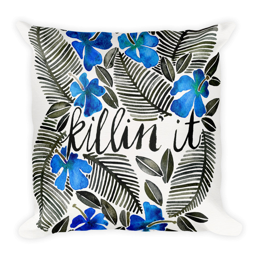 Killin' It – Navy & Black  •  Square Pillow