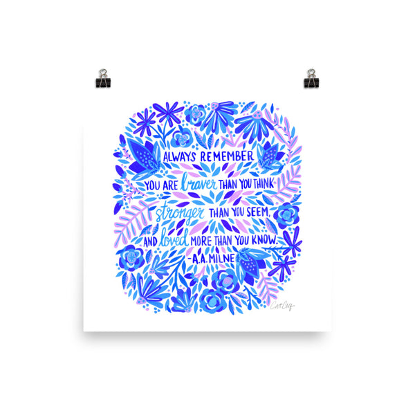 Always Remember – Indigo Palette • Art Print