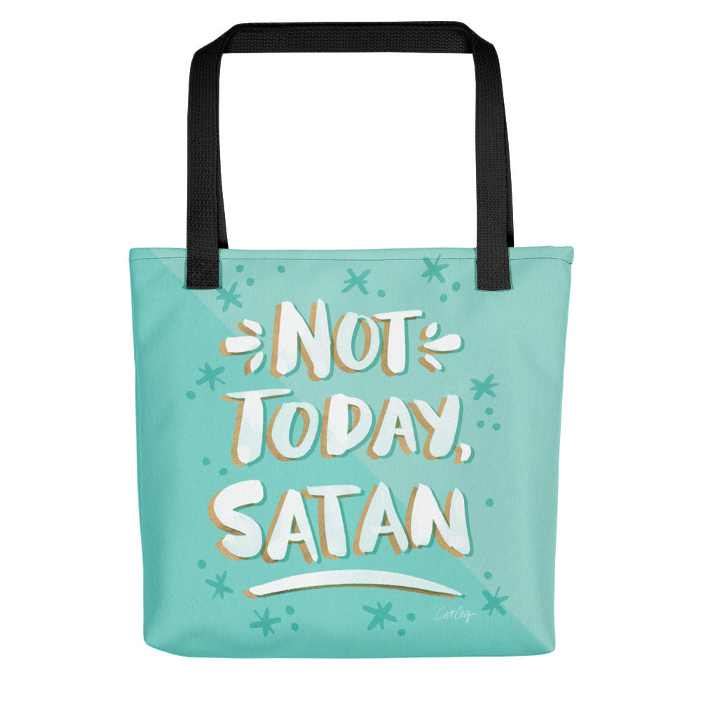 Not Today Satan – Mint Palette • Tote Bag