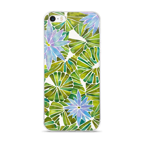Water Lilies – Lavender & Green Palette  •  iPhone 5/5s/Se, 6/6s, 6/6s Plus Case