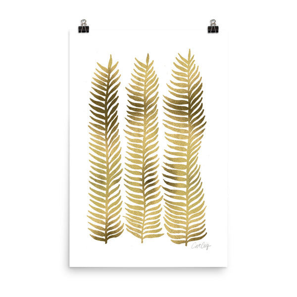 Stems – Gold Palette • Art Print