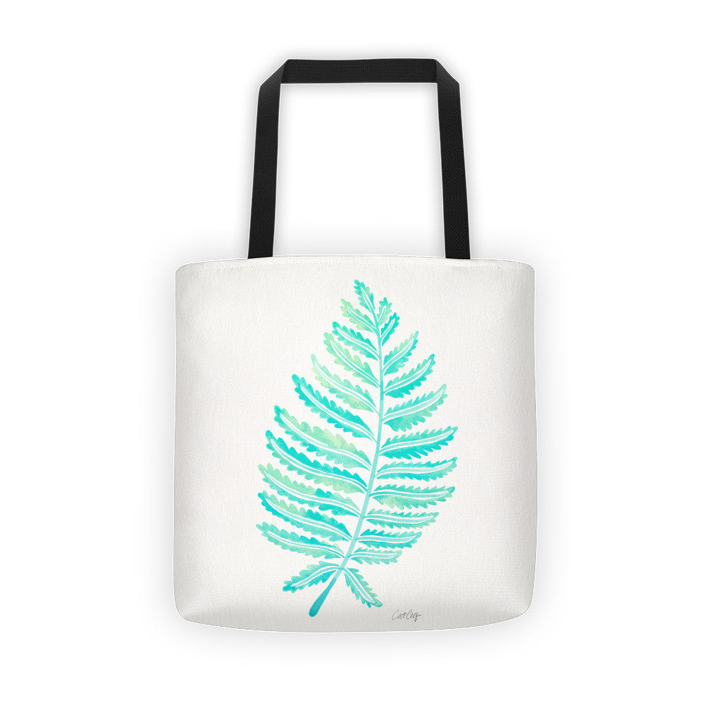 Fern Leaf – Mint Palette •  Tote Bag