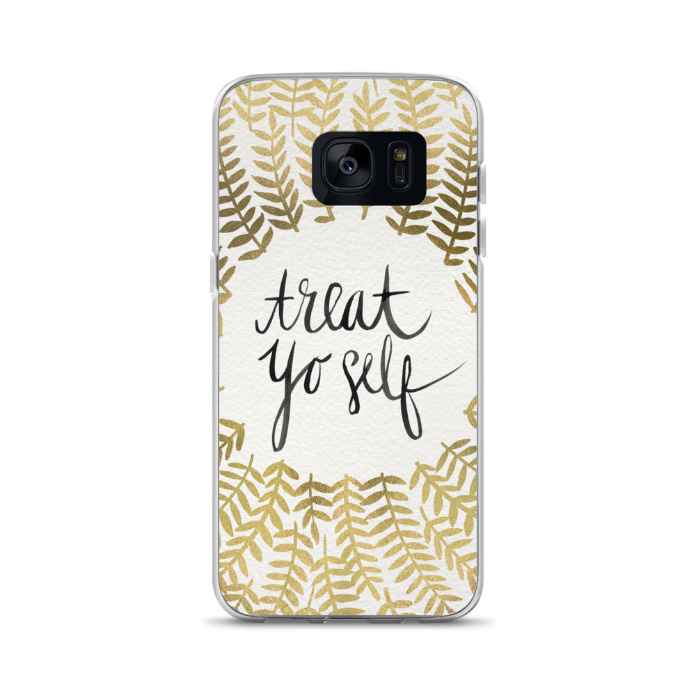 Treat Yo Self – Gold Palette • Samsung Case
