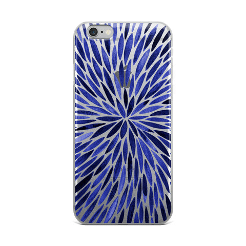Watercolor Burst – Navy Palette • iPhone Case