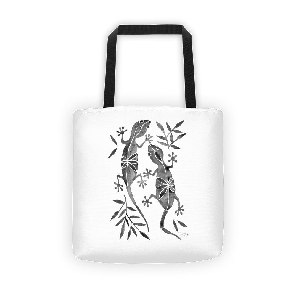 Geckos – Black Palette  •  Tote Bag