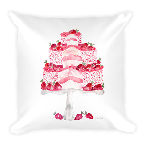 Strawberry Shortcake  •  Square Pillow
