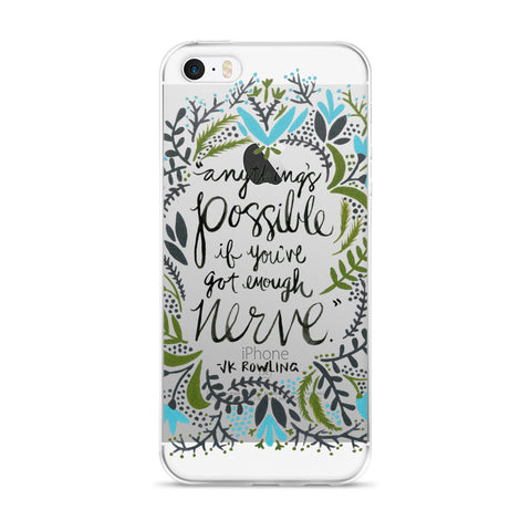 Anything's Possible – Green & Blue Palette • iPhone 5/5s/Se, 6/6s, 6/6s Plus Case (Transparent)