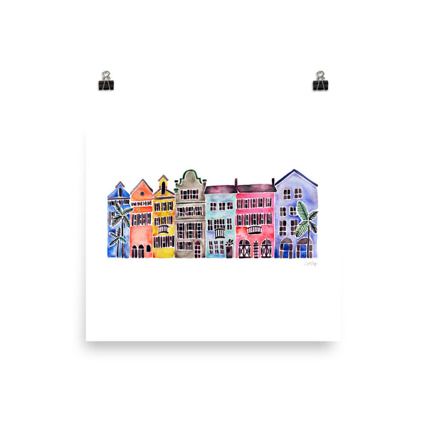 Rainbow Row • Art Print