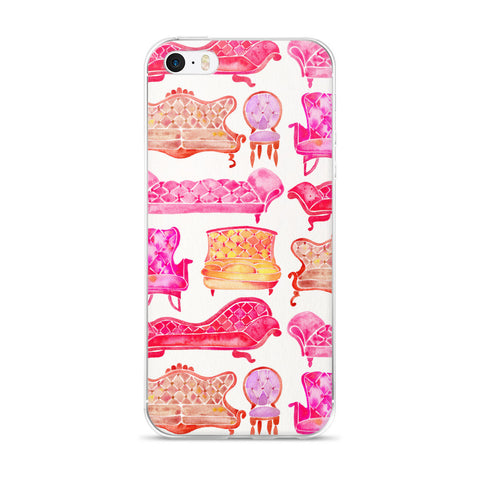 Victorian Lounge – Pink Palette  •  iPhone 5/5s/Se, 6/6s, 6/6s Plus Case