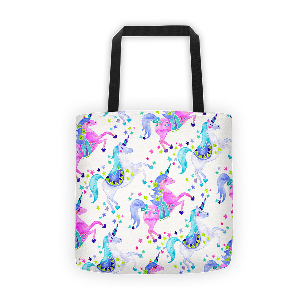 Unicorns – Pastel Palette  •  Tote Bag