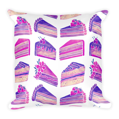 Cake Slices – Unicorn Palette • Square Pillow