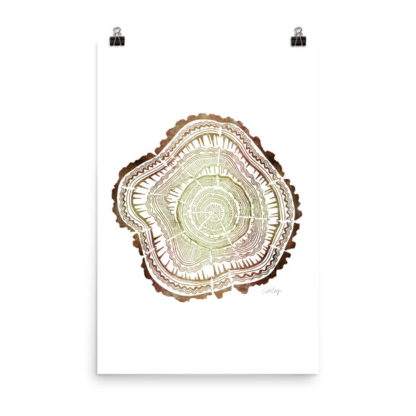 Tree Rings – Brown Ombré Palette • Art Print