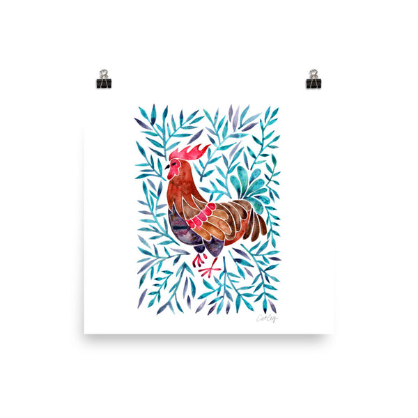 Le Coq – Green Leaves • Art Print