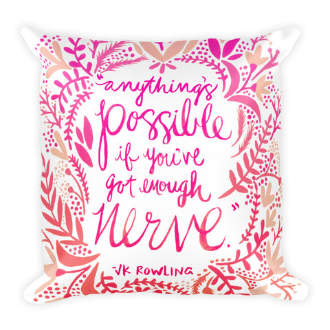 Anything's Possible – Pink Ombré Palette • Square Pillow
